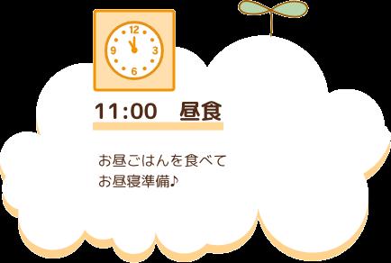 11:00 昼食